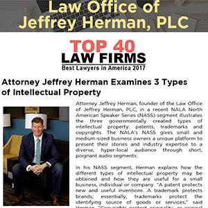 Attorney Jeffrey Herman Examines 3 Types of Intellectual Property
