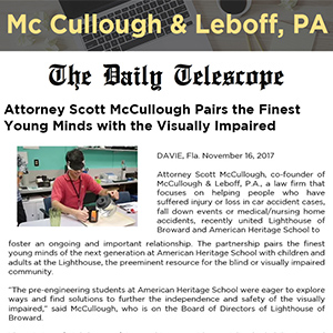 Attorney Scott McCullough Pairs the Finest Young Minds with the Visually Impaired