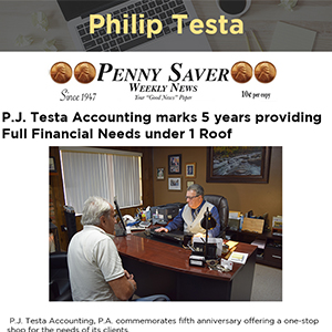 P.J. Testa Accounting Marks 5 Years Providing Full Financial Needs Under 1 Roof