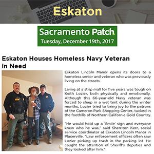 Eskaton Houses Homeless Navy Veteran in Need