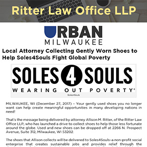 Local Attorney Collecting Gently Worn Shoes to Help Soles4Souls Fight Global Poverty
