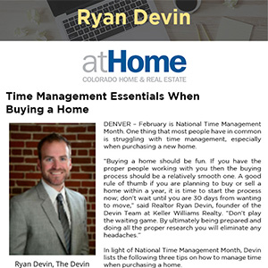 Time Management Essentials When Buying a Home