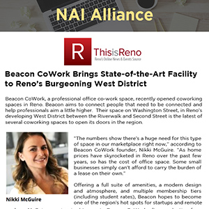Beacon CoWork Brings State-of-the-Art Facility to Reno's Burgeoning West District