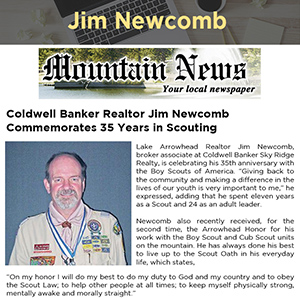 Coldwell Banker Realtor Jim Newcomb Commemorates 35 Years in Scouting