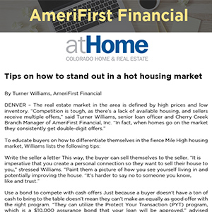Tips on how to stand out in a hot housing market