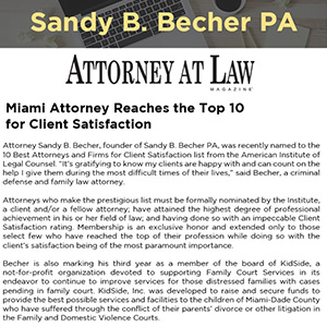 Miami Attorney Reaches the Top 10 for Client Satisfaction