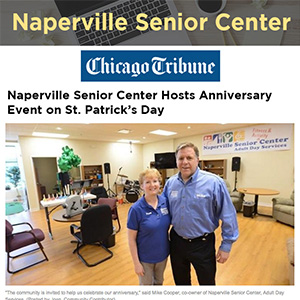 Naperville Senior Center Hosts Anniversary Event on St. Patrick's Day