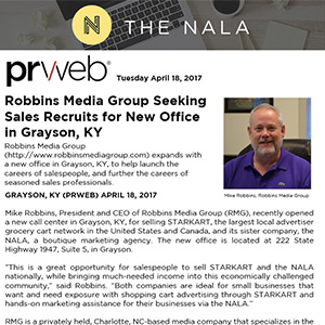 Robbins Media Group Seeking Sales Recruits for New Office in Grayson, KY