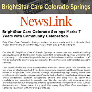 BrightStar Care Colorado Springs Marks 7 Years with Community Celebration