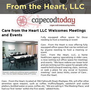 Care from the Heart LLC Welcomes Meetings and Events