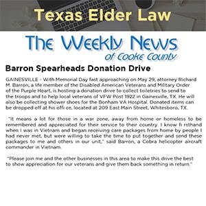 Barron Spearheads Donation Drive