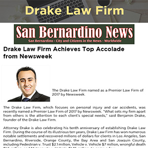 Drake Law Firm Achieves Top Accolade from Newsweek