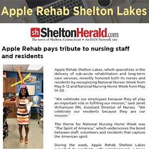 Apple Rehab pays tribute to nursing staff and residents