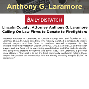 Lincoln County: Attorney Anthony G. Laramore Calling On Law Firms to Donate to Firefighters