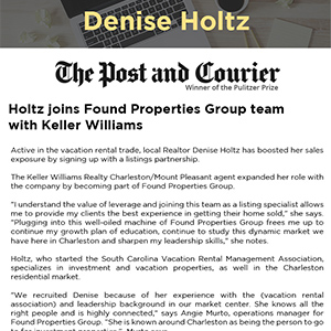 Holtz joins Found Properties Group team with Keller Williams
