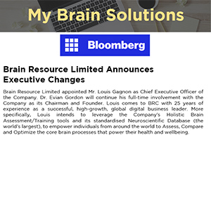 Brain Resource Limited Announces Executive Changes