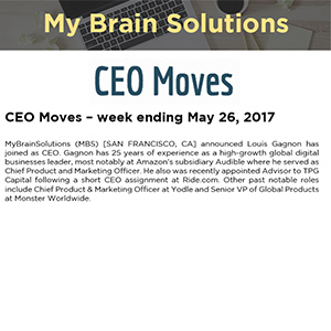 CEO Moves – week ending May 26, 2017