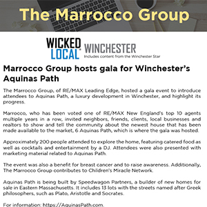 Marrocco Group hosts gala for Winchester's Aquinas Path