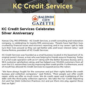 KC Credit Services Celebrates Silver Anniversary