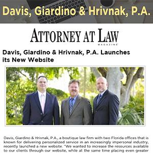 Davis, Giardino & Hrivnak, P.A. Launches its New Website