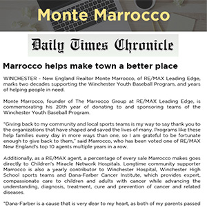 Marrocco helps make town a better place