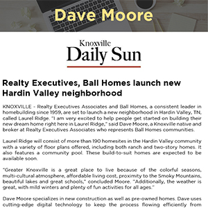Realty Executives, Ball Homes launch new Hardin Valley neighborhood