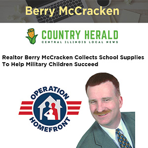 Realtor Berry McCracken Collects School Supplies To Help Military Children Succeed