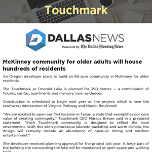 McKinney community for older adults will house hundreds of residents