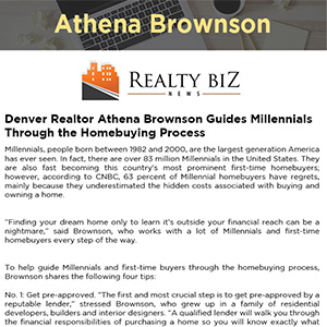 Denver Realtor Athena Brownson Guides Millennials Through the Homebuying Process