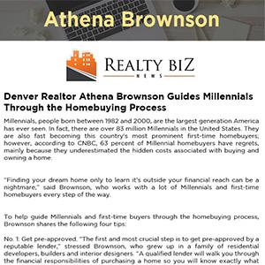 Denver Realtor Athena Brownson Guides Millennials Through the Homebuying Process