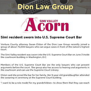 Simi resident sworn into U.S. Supreme Court Bar